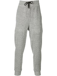 Public School Drawstring Track Pants Grey