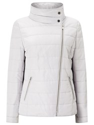 Windsmoor Asymmetric Short Quilted Jacket Light Grey