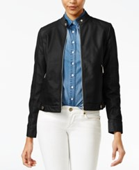 Joujou Jou Jou Faux Leather Jacket Black