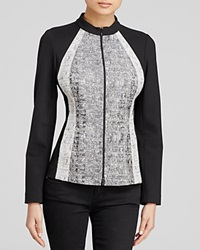 Lafayette 148 New York Greysen Color Block Jacket Black Multi