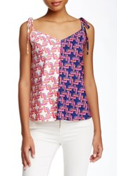 Julie Brown V Neck Tank Pink