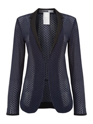 Sportmax Capanna Perforated Blazer Blue