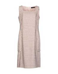 Rena Lange Knee Length Dresses Light Pink