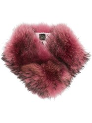 Mr And Mrs Italy Raccoon Fur Collar Pink