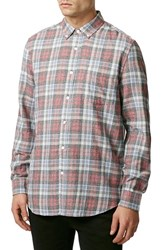Men's Topman Tartan Plaid Long Sleeve Shirt
