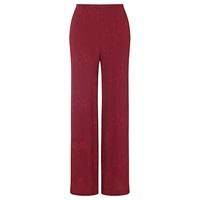 Ghost Embroidered Trousers Berry
