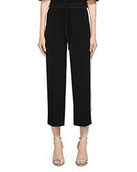 Whistles Cropped Track Pants Black White