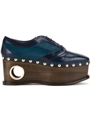 Paloma Barcelo 'Loho' Lace Up Shoes Blue