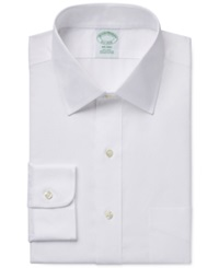 Brooks Brothers Extra Slim Fit Non Iron Pinpoint Solid Dress Shirt White