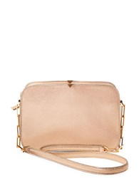 Brian Atwood Zoey Leather Crossbody Gold