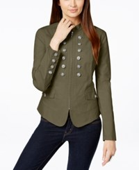 Inc International Concepts Double Breasted Military Jacket Only At Macy's Olive Drab