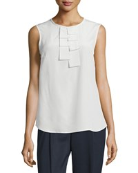Peserico Sleeveless Ruffle Front Shell Women's