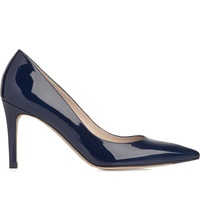 Lk Bennett Floret Patent Leather Courts Blu Navy
