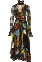 Preen Lizette Printed Devore Chiffon Dress