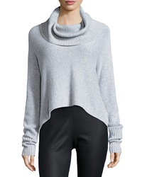 Eileen Fisher Lofty Cashmere Cowl Neck Box Top