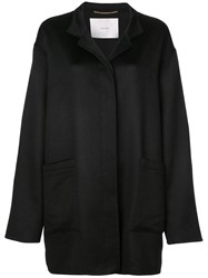 Adam By Adam Lippes Single Breasted Cocoon Coat Black