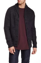 Apolis Alpaca And Boiled Wool Blend Cardigan Gray