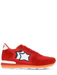 Atlantic Stars Antares Suede And Nylon Sneakers Red