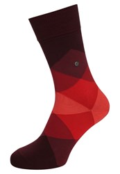 Burlington Clyde Socks Claret Red