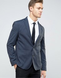 Selected Homme Skinny Blazer In Fleck Navy