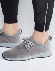 Cayler And Sons Katsuro Trainers In Grey With Quilted Heel Detail Grey
