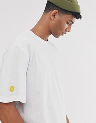 Brooklyn Supply Co. Co Oversized T Shirt With Logo Tab In White