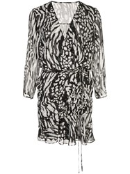 Veronica Beard Kiran Wrap Silk Dress 60