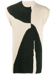 Jil Sander Ribbed Knit Colour Block Jumper 60