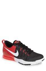 Nike Men's Zoom Train Action Training Shoe Black White Wolf Grey Red