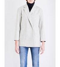French Connection Platform Oversized Wool Blend Coat Light Grey Mel