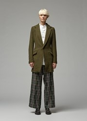Yohji Yamamoto Double Collar Tailored Jacket Khaki