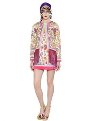 Manish Arora Paisley Printed Duchesse Satin Dress