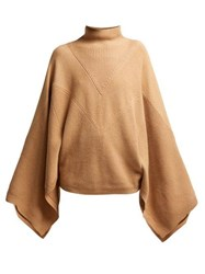Givenchy Cashmere High Neck Sweater Camel