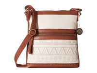 The Sak Pax Swing Pack Stone Tribal Quilt Cross Body Handbags Beige