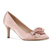 Paradox London Pink Adaline Mid Heel Stiletto Court Shoes Pink