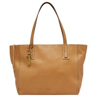 Fossil Emma Leather Tote Bag Tan