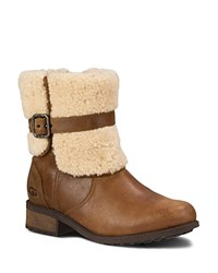 Ugg Blayre Ii Shearling Cuff Booties Chestnut