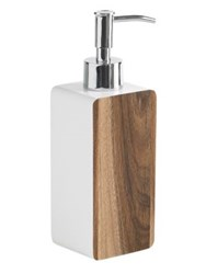 Kassatex Habitat Lotion Dispenser Brown White