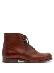 Grenson Leander Leather Boots Brown