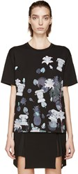 Versus Black And Purple Floral Anthony Vaccarello Edition T Shirt