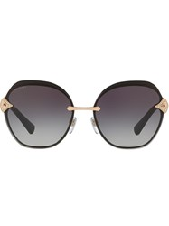 Bulgari Oversized Sunglasses Metallic