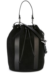 Diesel Black Gold Bucket Tote Black
