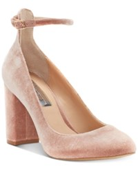 Inc International Concepts Gallan Ankle Strap Pumps Created For Macy's Women's Shoes Dark Blush