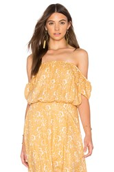 Amuse Society Mariposa Woven Top Yellow