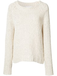 Co Classic Slouch Jumper White