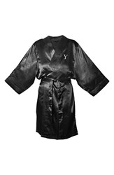 Women's Cathy's Concepts Satin Robe Black Y
