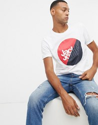 Jack And Jones Core T Shirt With Brand Graphic White