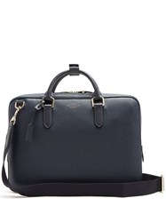 Smythson Burlington Leather Briefcase Navy