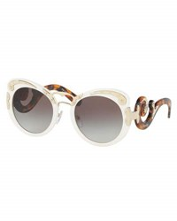 Prada Gradient Butterfly Scroll Sunglasses Ivory