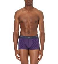 Ted Baker Ghost Printed Stretch Cotton Boxers Purple